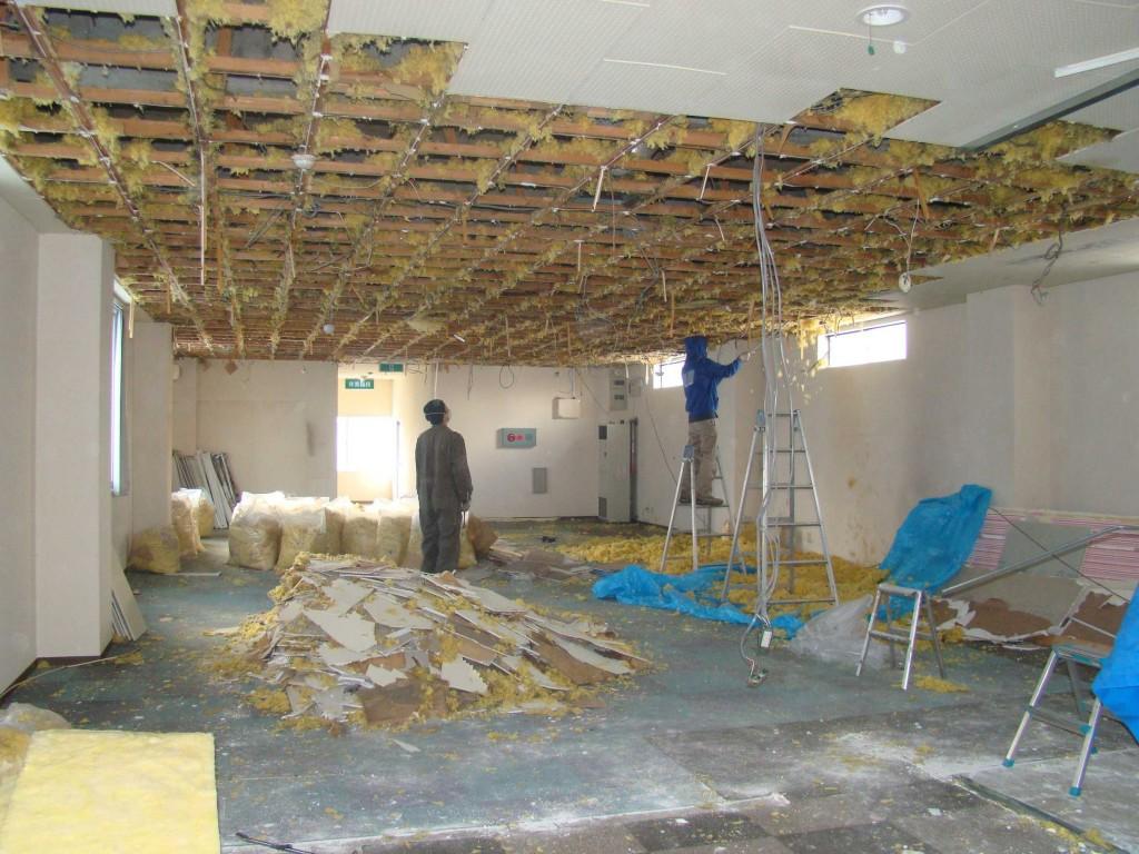 天井と壁をバラす!